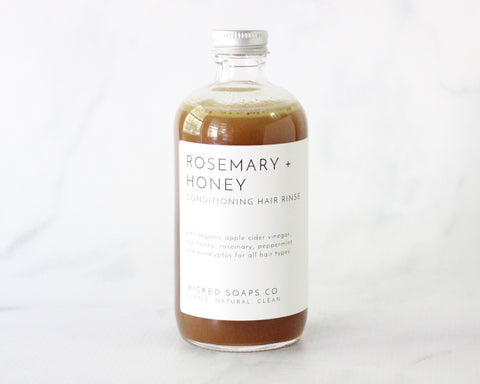 Rosemary + Honey Conditioning Hair Rinse