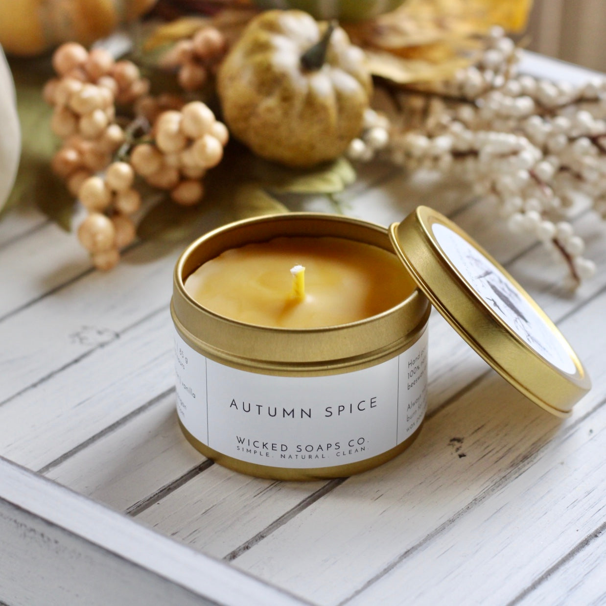 Autumn Spice Beeswax Candle