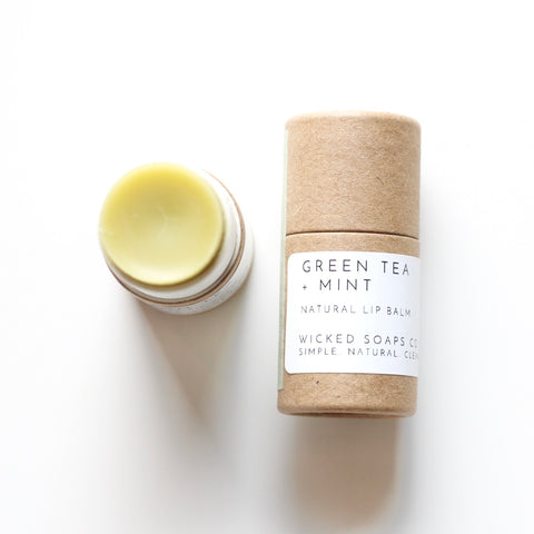 Green Tea + Mint Lip Balm