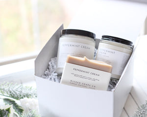 Peppermint Cream Gift Set