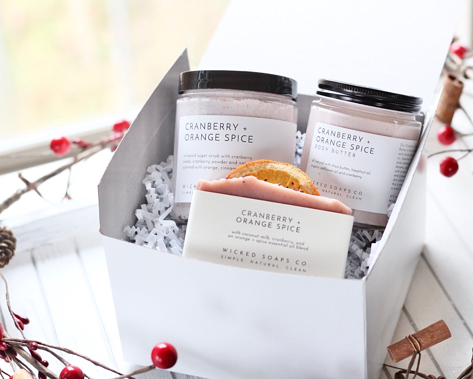 Cranberry + Orange Spice Gift Set