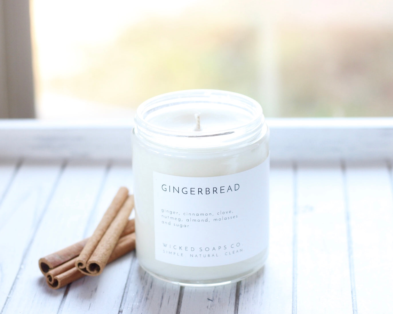 Gingerbread Minimalist Soy Candle
