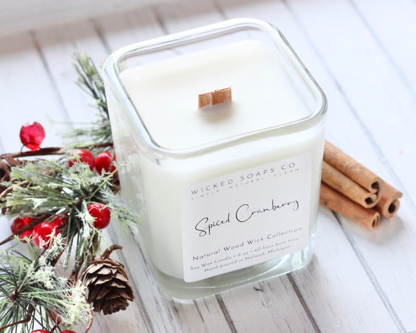 Spiced Cranberry Wood Wick Candle