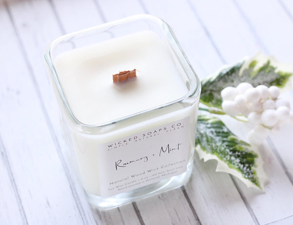 Rosemary + Mint Wood Wick Candle