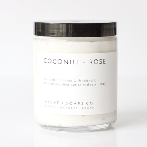Coconut + Rose Whipped Salt Scrub