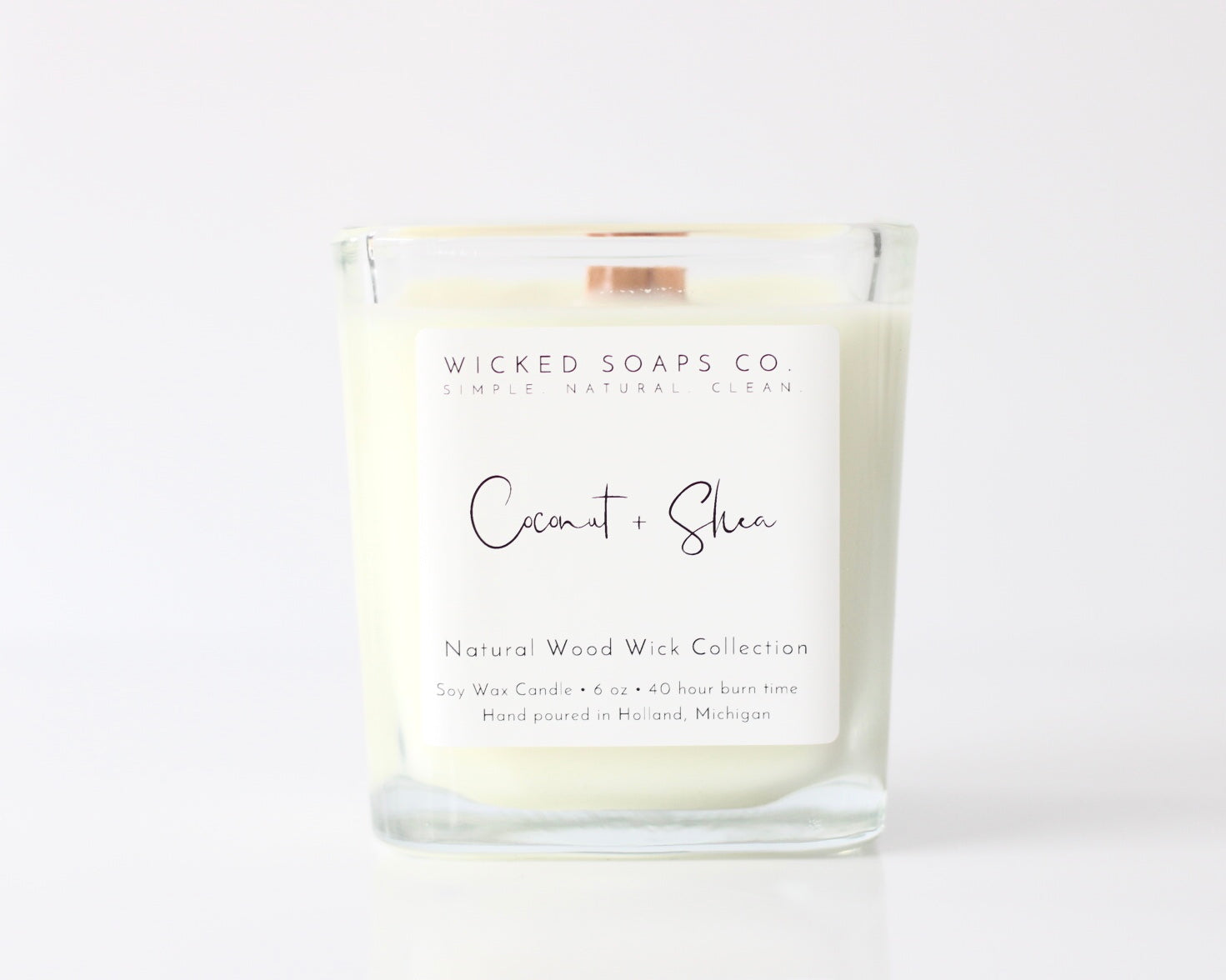 Coconut + Shea Wood Wick Candle