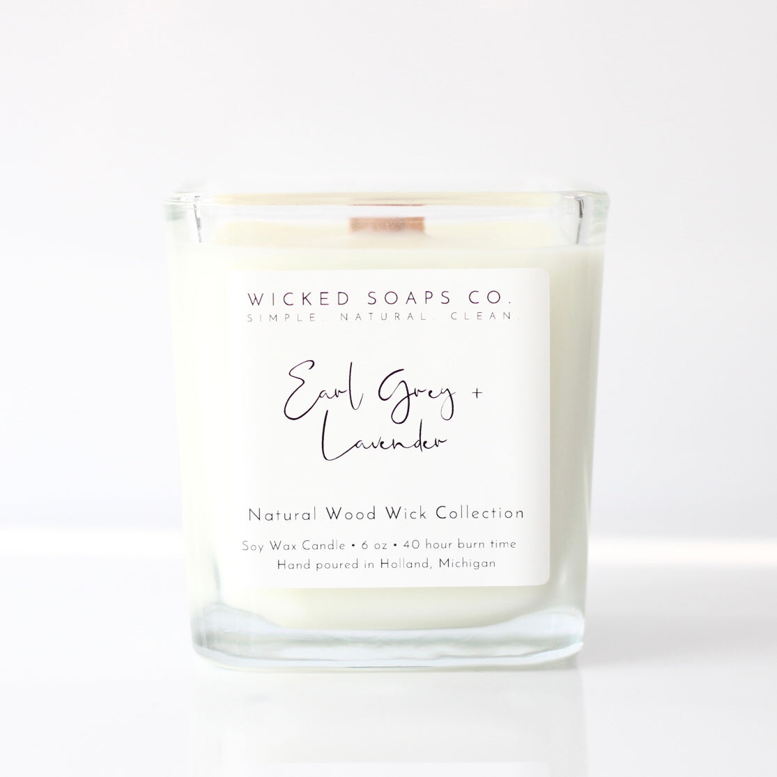 Earl Grey + Lavender Wood Wick Candle