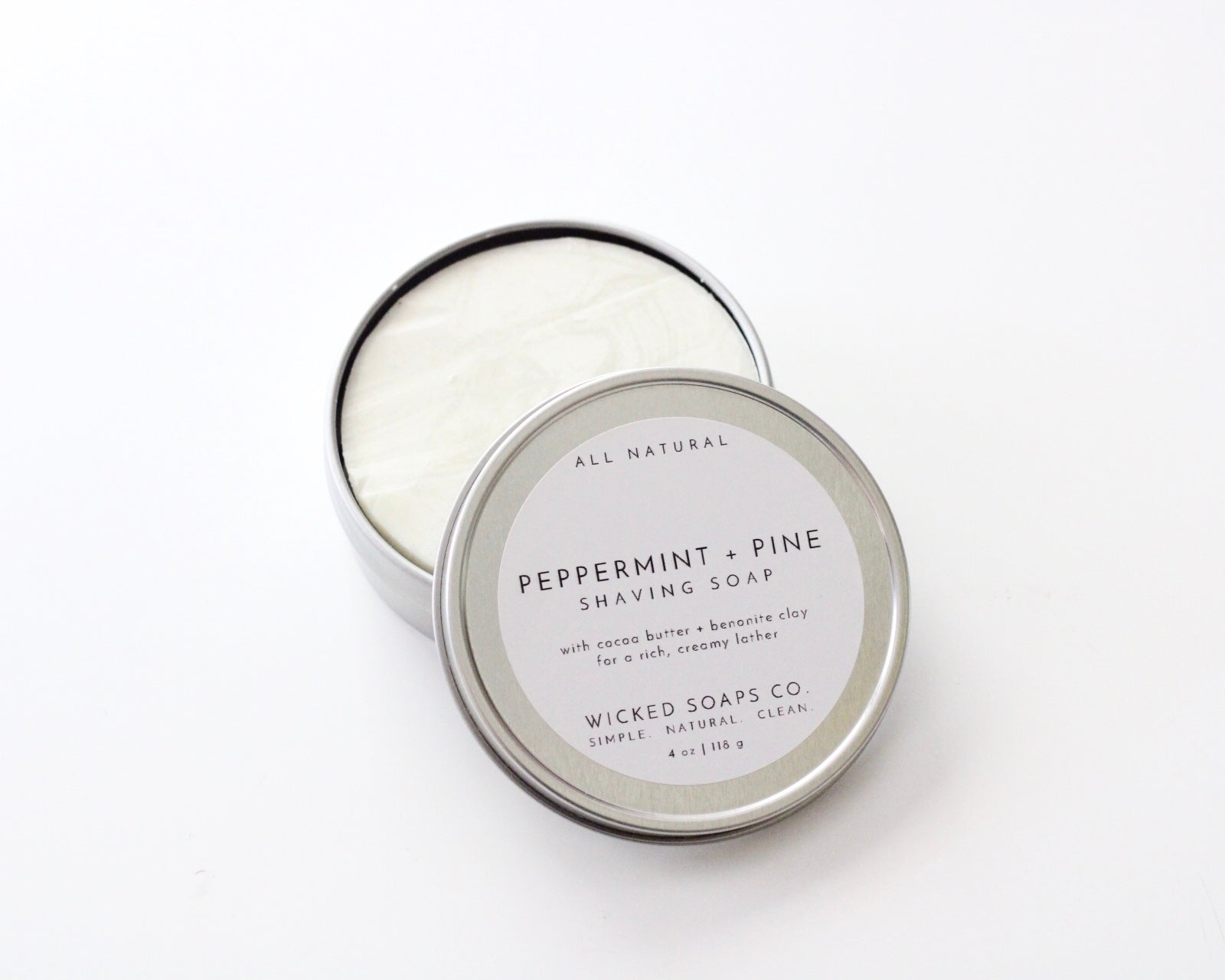 Peppermint + Pine Shaving Soap