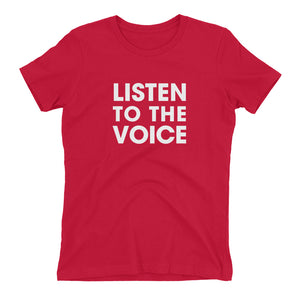 Listen To The Voice Boyfriend Fit T-Shirt