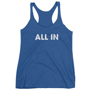 All In Racerback Tank