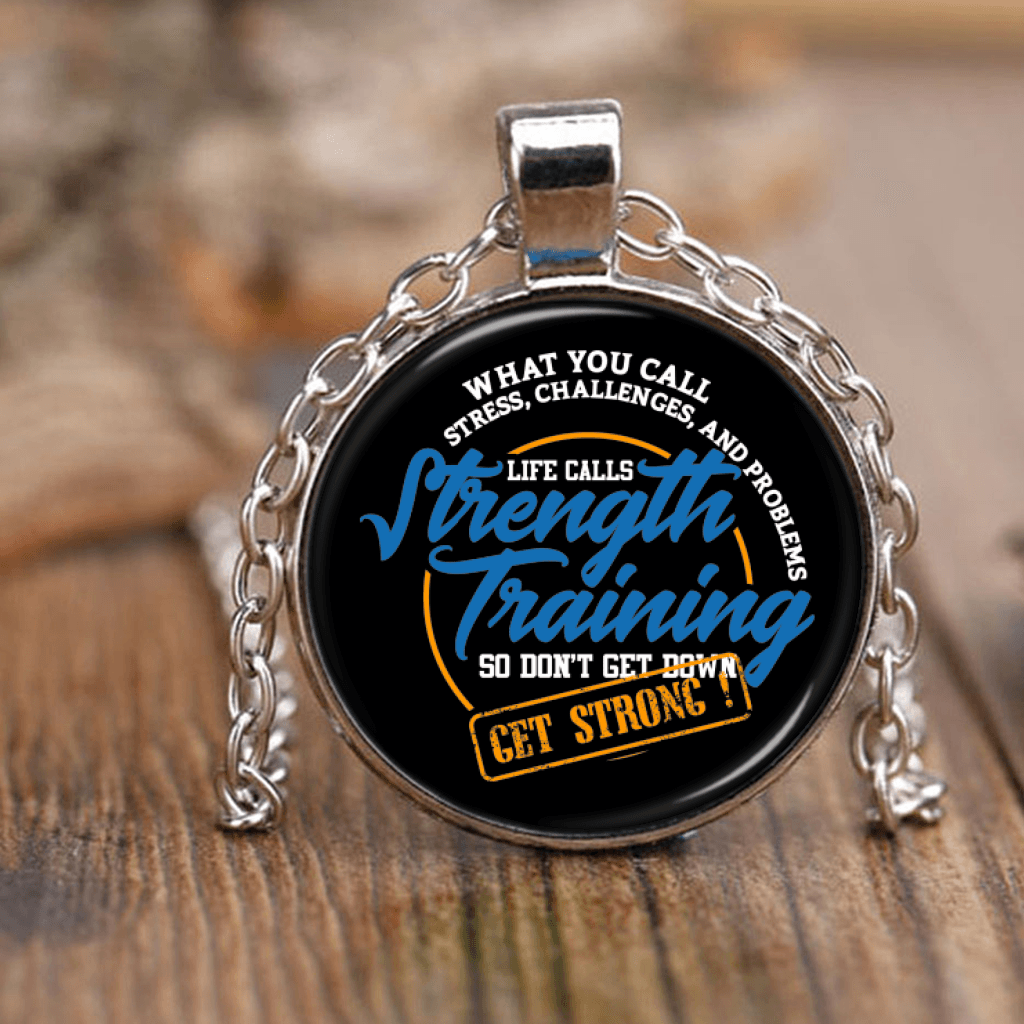 Don't Get Down, Get Strong Inspirational Necklaces - GETSTRONG