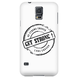 Be Strong Enough Long Enough Quote Phone Cases for iPhone and Galaxy - White - GETSTRONG