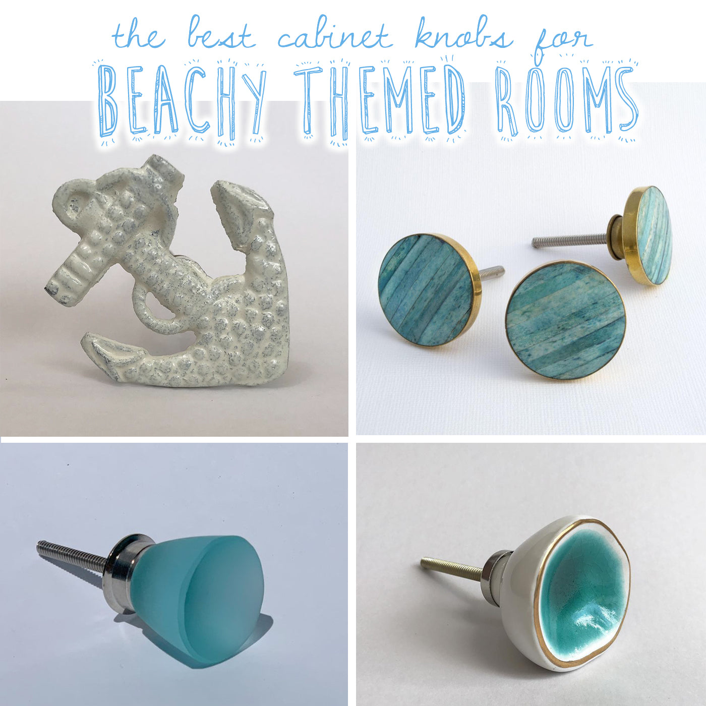 Coastal Design Beach Themed Drawer And Cabinet Knobs