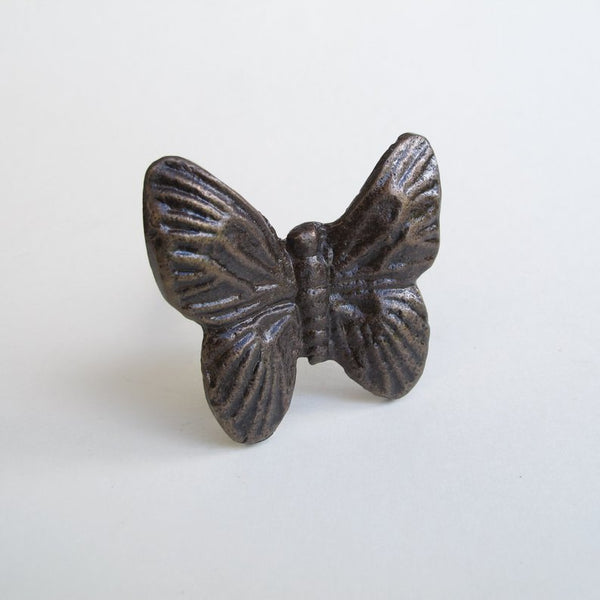 Butterfly Metal Drawer Pulls & Cabinet Knobs - Hooks & Knobs