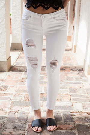 Saved By Grace White Jeans