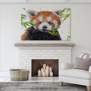 """Red"" The Red Panda Massive Canvas Print"