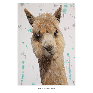 """Alice"" The Alpaca 5x7 Mini Print - Andy Thomas Artworks"