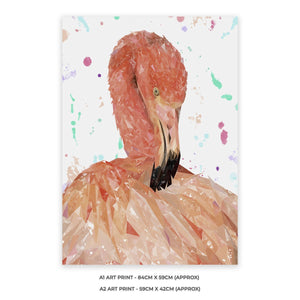 """Felicity"" The Flamingo A2 Unframed Art Print - Andy Thomas Artworks"