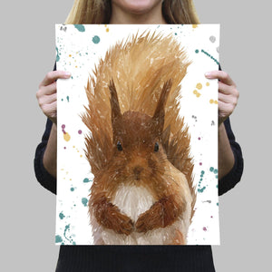 """Ellis"" The Red Squirrel A4 Unframed Art Print - Andy Thomas Artworks"
