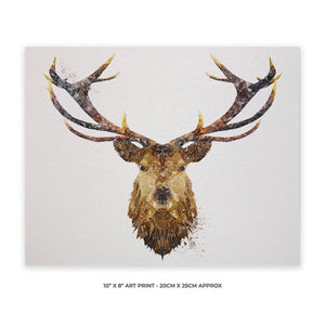 """The Stag"" 10"" x 8"" Unframed Art Print - Andy Thomas Artworks"