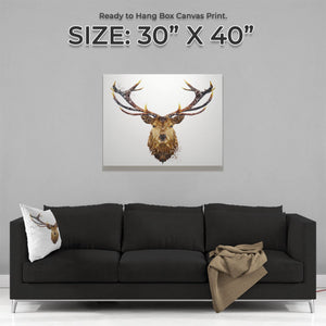 """The Stag"" Large Canvas Print - Andy Thomas Artworks"