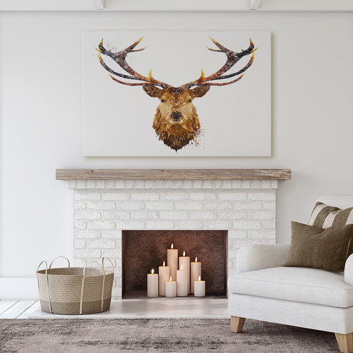 """The Stag"" Massive Canvas Print"