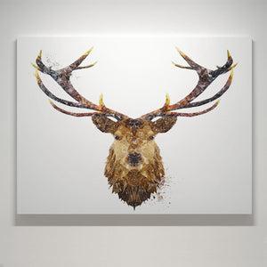 """The Stag"" Small Canvas Print - Andy Thomas Artworks"