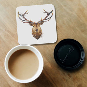 """The Stag"" Coaster - Andy Thomas Artworks"