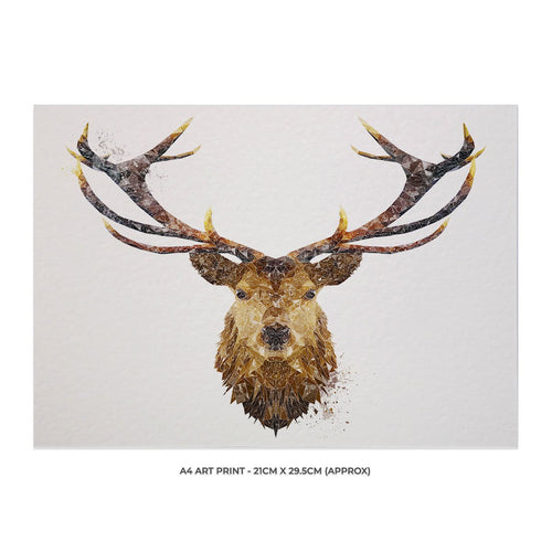 """The Stag"" A4 Unframed Art Print"