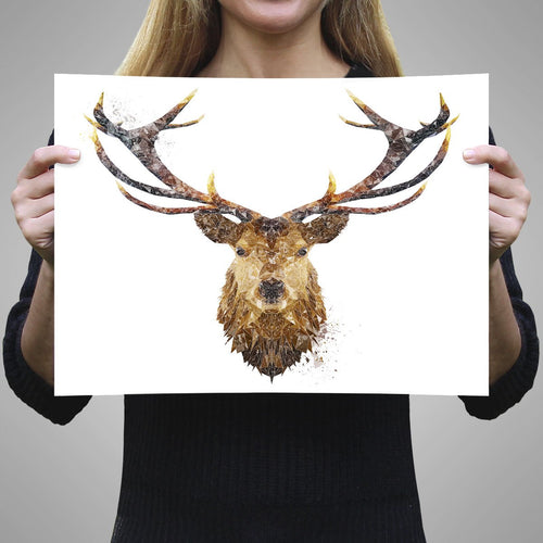 """The Stag"" A1 Unframed Art Print"