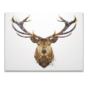 """The Stag"" Skinny Canvas Print - Andy Thomas Artworks"