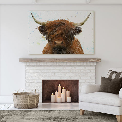 """The Highland"" Highland Cow Massive Canvas Print"