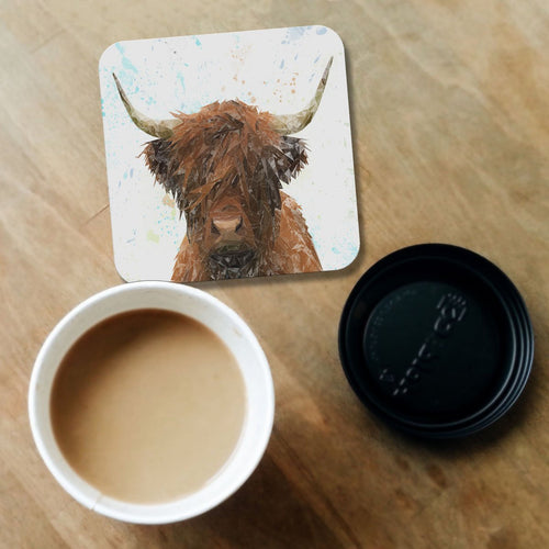 """The Highland"" Highland Cow Coaster"