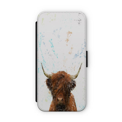 """The Highland"" Highland Cow Flip Phone Case"