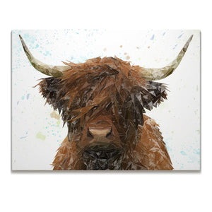 """The Highland"" Highland Cow Skinny Canvas Print"