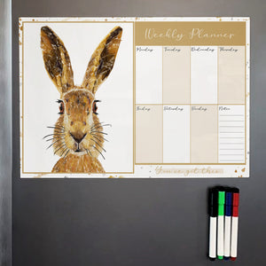 The Hare A3 Magnetic weekly planner