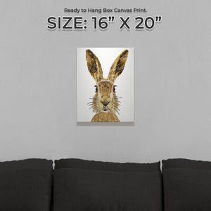 """The Hare"" Small Canvas Print"