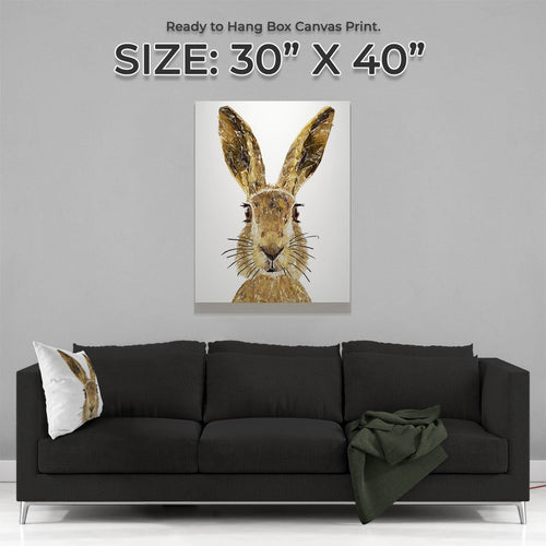 """The Hare"" Large Canvas Print"