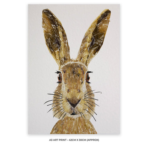 """The Hare"" A3 Unframed Art Print"