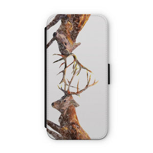 """The Showdown"" Rutting Stags Flip Phone Case - Andy Thomas Artworks"