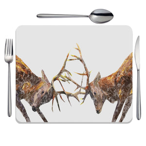 """The Showdown"" Rutting Stags Placemat - Andy Thomas Artworks"