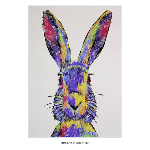 """The Colourful Hare"" 5x7 Mini Print"