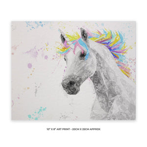 """The Unicorn"" 10"" x 8"" Unframed Art Print - Andy Thomas Artworks"