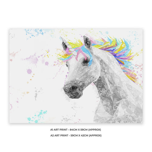 """The Unicorn"" A2 Unframed Art Print"