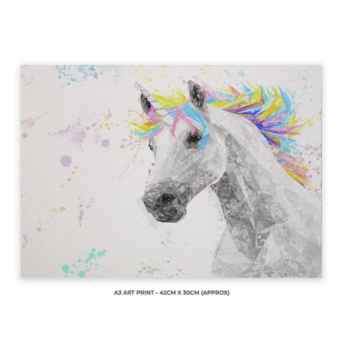 """The Unicorn"" A3 Unframed Art Print"