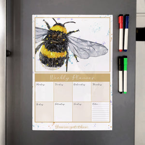 The Bee A3 Magnetic weekly planner