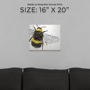 """The Bee"" Small Canvas Print"