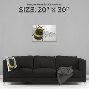 """The Bee"" Medium Canvas Print - Andy Thomas Artworks"
