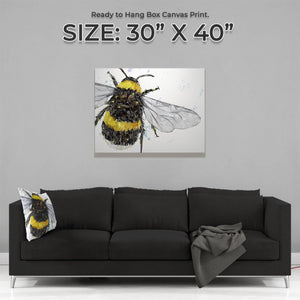 """The Bee"" Large Canvas Print - Andy Thomas Artworks"
