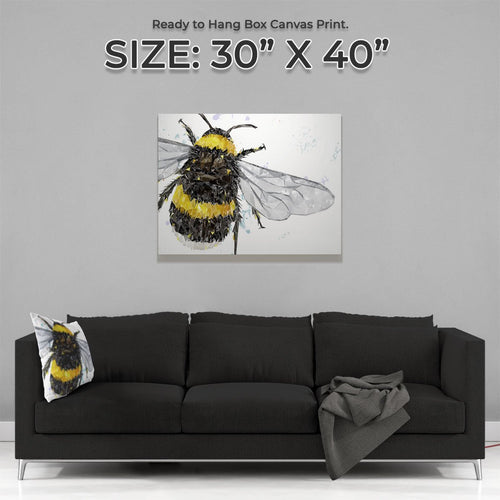 """The Bee"" Large Canvas Print"